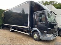 DAF LF 45 160 auto 2015 euro 6 ULEZ LONDON 22 ft box tie rails Removal truck lorry