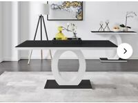 Black High Gloss Glass Table - Brand New!