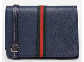 caaf1039c0 Women's GG Stripe Handbag Designer Inspired Clutch Bag Navy UK MK CC GG BNWT