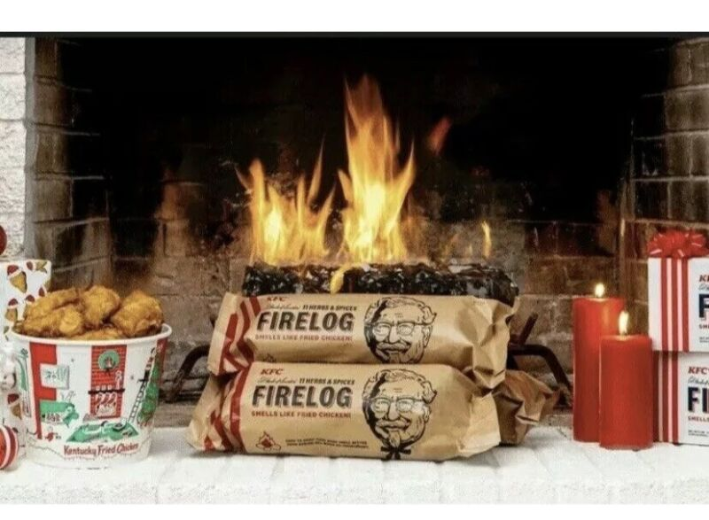 KFC Limited-Edition 11 Herbs & Spices Firelog