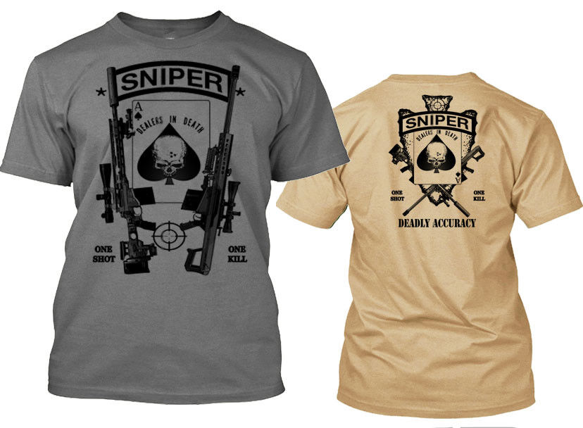 Sniper T-Shirt Special Operative Call Of Duty Military Tee Army, British SAS tee