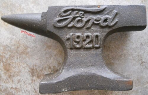 Ford Tractor Rustic Cast Iron Anvil Jewelry Paperweight Hobby