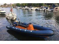 Rib Boat 5.8m, Yamaha V4 115hp, Rollercoaster Trailer