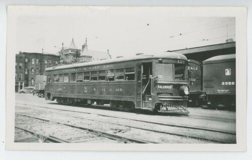 1930s Cincinnati & Lake Erie Railroad #125 Streetcar Interurban Trolley Electric