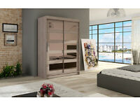 miami with/without mirror sliding wardrobe + malton tv stands now in stock ready for delivery