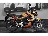 Honda CB125F Rose Gold Chrome Custom