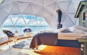 King size dome in Cape Breton Island glamping