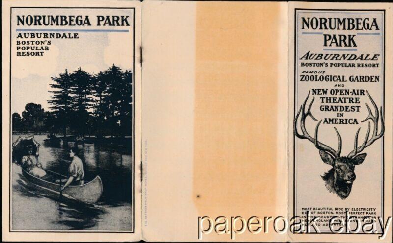 ca1910 Norumbega Park Auburndale, Mass. Promotional Booklet