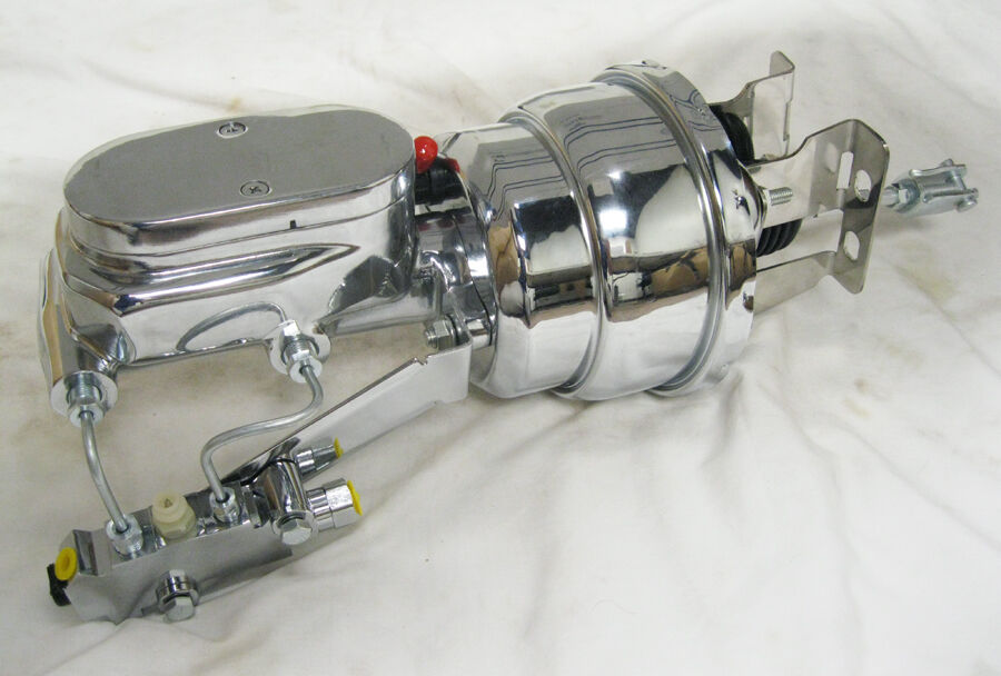 """Valve CHROME 7/"""" Rod Power Booster w// Smooth Master Cylinder /& Disc Disc Prop"""