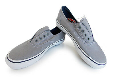 18fe79057a VANS off the wall Classic ERA LACELESS kid 3.0 Grey white SCHOOL SLIP on