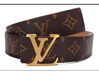 LV belt designer Louis Vuitton style Gold Buckle Monogram / Checkered Damier Ebene