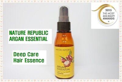 NATURE REPUBLIC ARGAN Essential Deep Care Hair Essence 60ml(Korea Cosmetics)