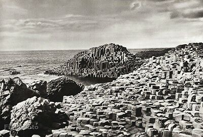 1934 Vintage 11X14 Ireland Giants Causeway Basalt Columns Coast Landscape Photo