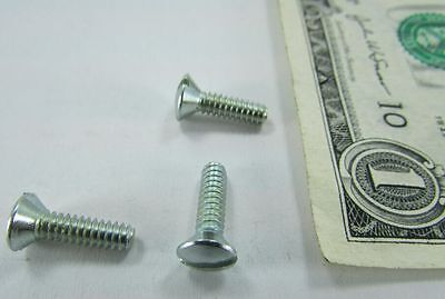 Lot 200 6-32 X 12 Oval Head Screws Zinc Plated Steel Electrical Switch Cover