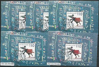 Bund aus 1999 gestempelt Block 51 MiNr.2072 - Für uns Kinder! 5x Stempel Bonn!