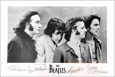 BEATLES John Paul George Ringo Famous Signatures