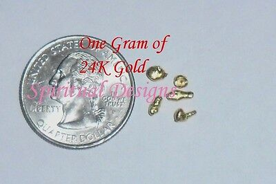 1/2 GRAM 24K .9999+  MEDICAL GRADE REFINED PURE GOLD SHOT,  BULLION, NOT SCRAP
