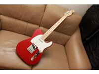 Squire telecaster std red maple neck