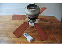 Ceiling fan and remote control
