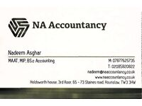 Accounting/bookkeeping - tax return £75