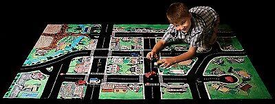 Play Mat Kids Road Activity Car Vinyl Mat Toddler Child Large Cleanable