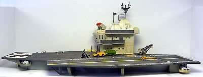 G.I. JOE USS FLAGG Vintage Figure Vehicle Playset Aircraft Carrier COMPLETE 1985