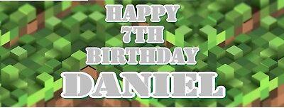 Tnt Pixel Personalisiert Kinder Geburtstagsbanner - Perfekt für Minecraft