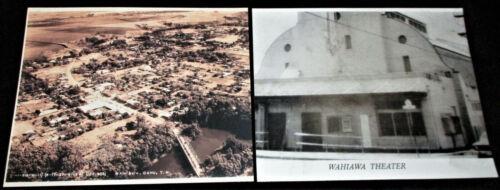 Hawaii 2 PHOTOGRAPHS OF WAHIAWA Aerial Territorial Image & Wahiawa Theater 8x10