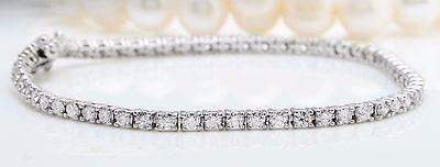 3.75CTW Natural VS2 / F-G Diamonds in 14K Solid White Gold Women Bracelet