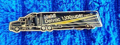 "NOS NEW Genuine Original MOBIL Delvac 1300 SUPER NASCAR 2.5"" Hat Pin ALL METAL"