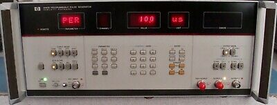 Hp Agilent 8160a 50 Mhz Programmable Pulse Generator Wopt 020 Calibrated