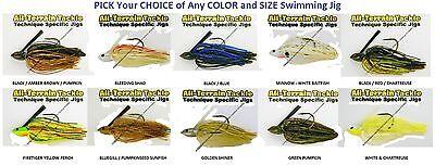 All Terrain Tackle Jigs Swim Swimming Pick Any ATSJ Color 1/