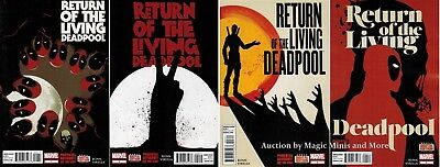 RETURN OF THE LIVING DEADPOOL comic (4) Issue SET #1 2 3 4 MARVEL 1st print lot (Deadpool Comic 1)