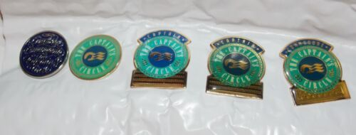 Princess Cruises Vintage Set of Captain Circle Pins from the Love Boat Years