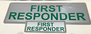 FIRST RESPONDER REFLECTIVE BADGE PACK - LARGE 300mm x 100mm / small 135mm x 45mm