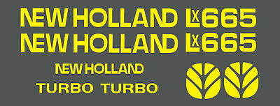 New Holland Lx665 Skid Steer Decal Kit For Your Loader Lx 665