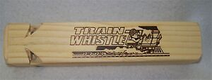 6 x Wooden Train Whistle Classic Musical Toy