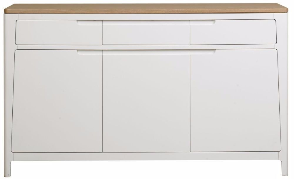 Designer Mark Webster Geo white painted oak three drawer, three door sideboardin Nottingham, NottinghamshireGumtree - Designer Mark Webster Geo white painted oak sideboard three drawer, three door loads of storage RRP£480 135x45x80cm WDH ex display viewing welcome can deliver for a fee