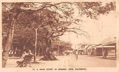 Noumea New Caledonia scenic view Main Street antique pc Y11018