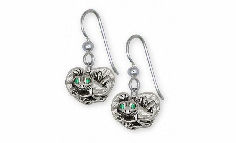 Frog Earrings Jewelry Sterling Silver Handmade Frog Earrings FG15-XFW