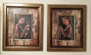Anthony Murray's Exotic Framed Pair Wall Art African Women x 2 Belmont Belmont Area Preview