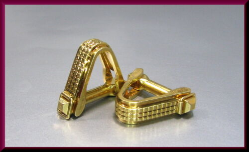 Cartier Vintage 18K Yellow Gold Triangular Shaped Men