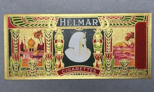 1941 HELMAR CIGARETTE PACKage Advertising LABEL Vintage Egypt Pharaoh