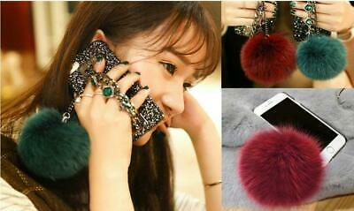 IPhone  8 7Plus Luxury Glitter Bling Diamond Hair Ball Bracelet Chain Phone case Bling Ball Bracelets
