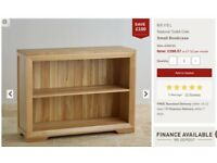 Solid oak bookcase/display unti