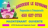 Nouvelle garderie LAVAL Fabreville Places disponibles