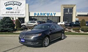2013 Lincoln MKS AWD, Leather, Bluetooth, Nav, Low KM