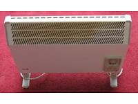 "'GLENN ELECTRIC CONVECTOR HEATER ON FEET' - White - 22"" wide 18"" high, 24 hour timer, good condition"