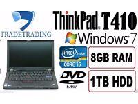 WOHO Powerful Lenovo T Laptop i5 2.50Ghz CPU - 8GB DDR3 - 1TB Windows 7 Notebook