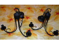 GOTHIC STYLE THREE ARM CHANDELIER CEILING LIGHTS